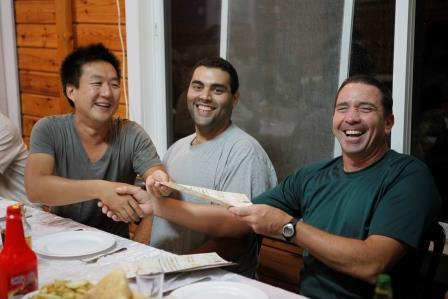 a good bye  party to one of our volunteers (Tal Rogovski)