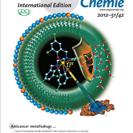 Journal cover in Angewandte Chemie