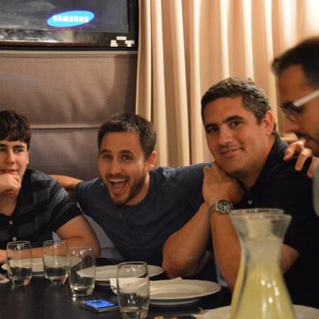 Yakov, Oded, Shay and Yousef at Roza restaurant