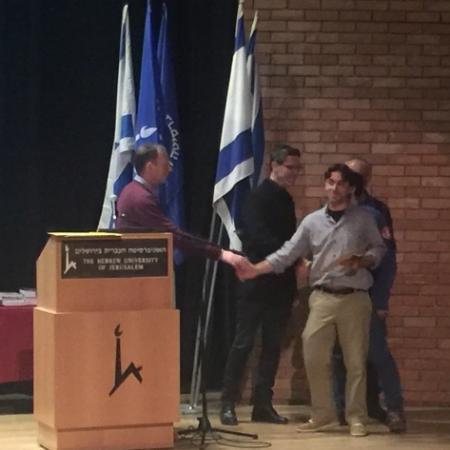 Muichael Layani receives the HUJI-Bezalel Design Award