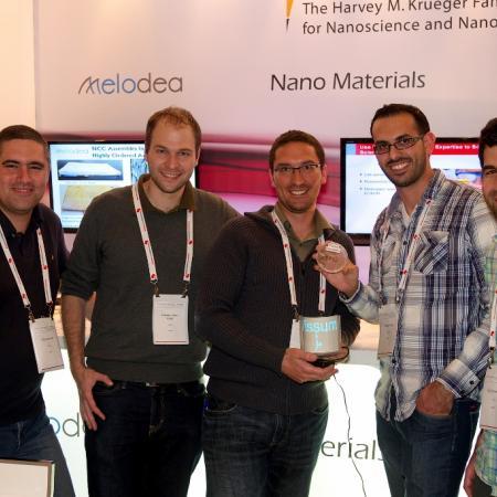 Shay, Isaac, Alon, Yousef and Ido at the Nano Israel conference