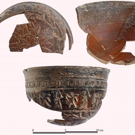 Relief-made bowl