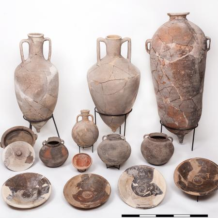 pottery from storage room