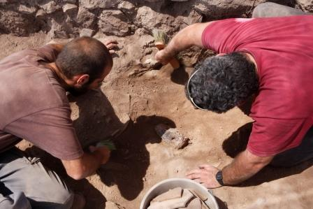 excavations in the storae room