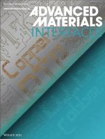 Journal cover Advanced Materials Interfaces 2015
