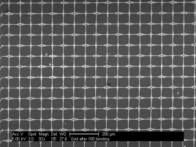 Transparent conductive grid