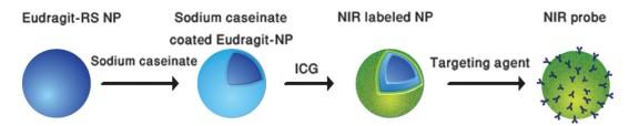 Fig. 1: schematic presentation of formation of NIR nanoparticles for tumor imaging
