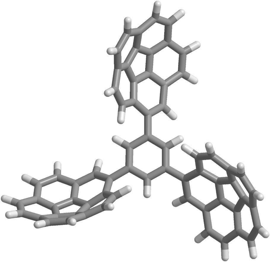 35. tricorannulenyl benzene anions