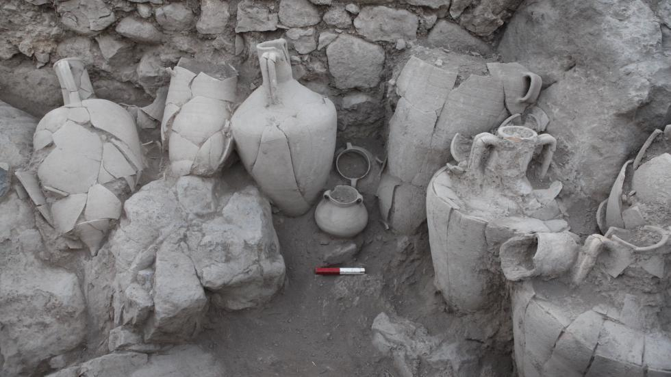 the storage room at the end of excavation