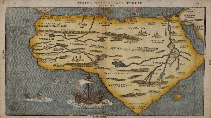 Bunting Map Africa 1581