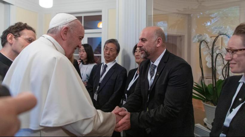 With the Pope