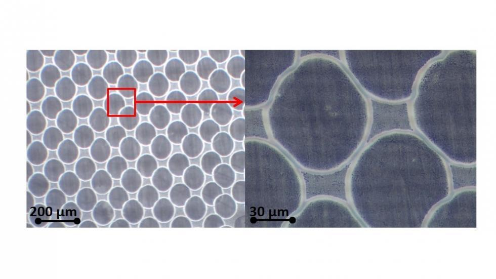 """Transparent electrode fabrication by """"hole formation"""""""