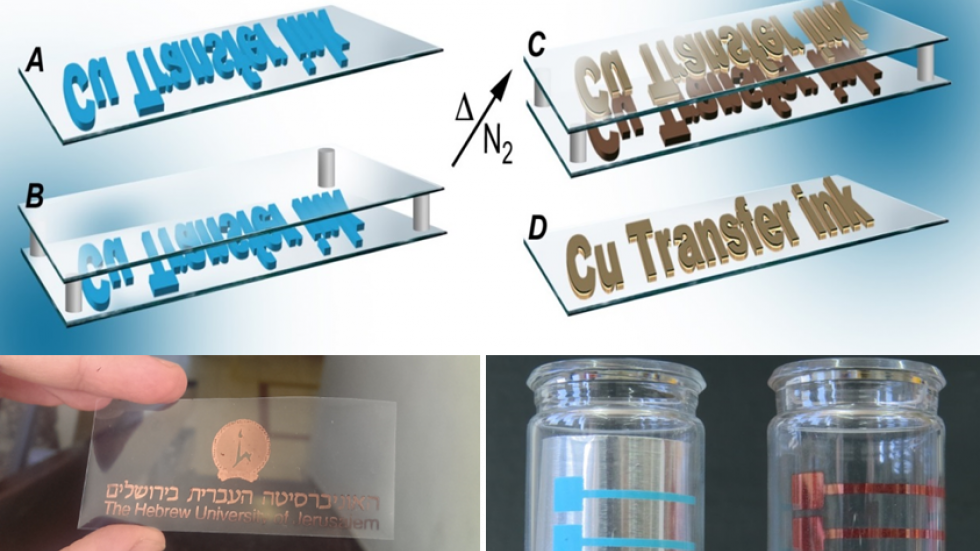 Schem of RTP method and examples on plastic and curved glass
