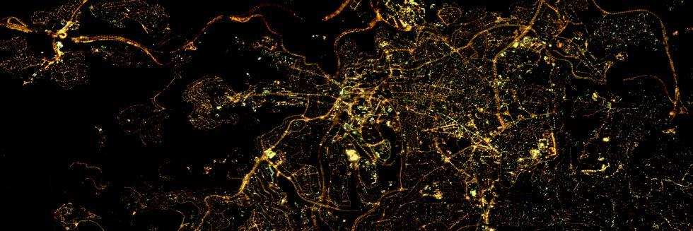 Night-time image of Jerusalem, Nov 21, 2017, Jilin-1
