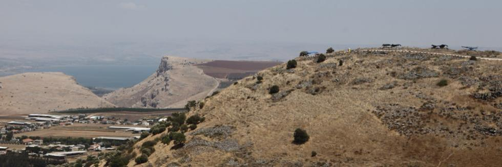 general view of Khirbet el - Eika